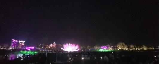 大型灯光音乐喷泉水幕投影秀
